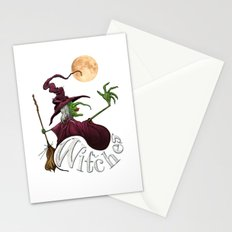 Black and White Witch Stationery Cards
