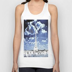 Tower Tourists in Reverse Unisex Tank Top
