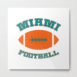 Miami Football Metal Print