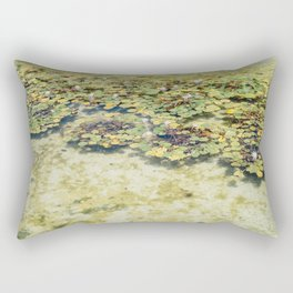 Monet Style Lily Pads Rectangular Pillow