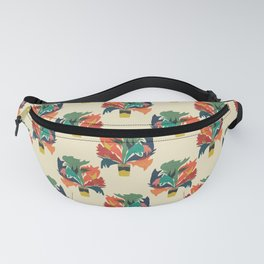 Potted staghorn fern plant Fanny Pack
