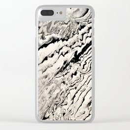 Black and white abstract pattern acrylic Clear iPhone Case