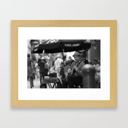 Street Musician from Quebec City Framed Art Print