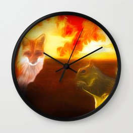 Animal Friends Wall Clock