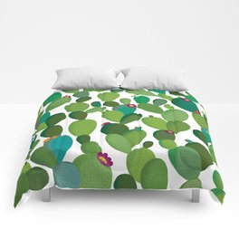 Cactus with flowers Comforters