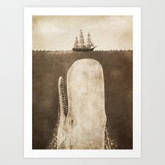 The Whale - exclusive sepia option Art Print