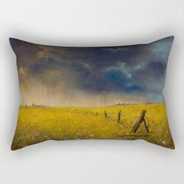 Rolling Thunder Pastel Art Print Rectangular Pillow