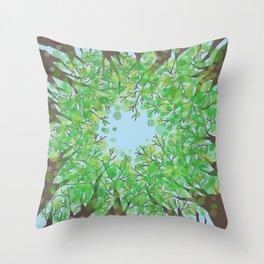 Look up -Summer Throw Pillow