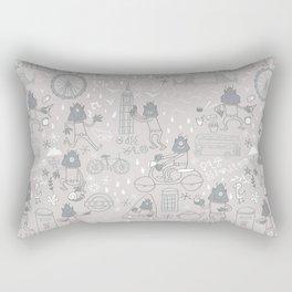 Alien visit to London Rectangular Pillow