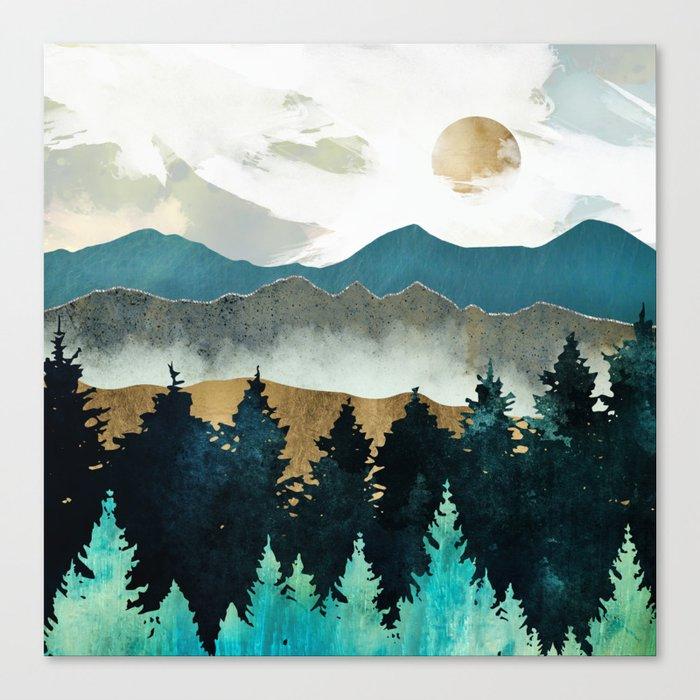 Forest Mist Leinwanddruck
