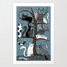 CAT TREE Art Print