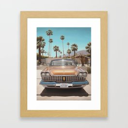 Plymouth In Driveway Framed Art Print