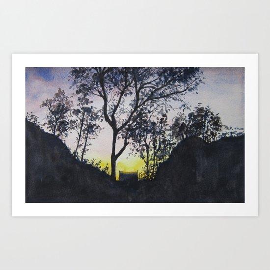 Sunrise in Rinjani Art Print