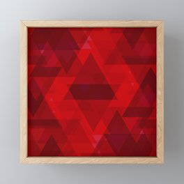 Bright red large triangles in the intersection and overlay. Framed Mini Art Print