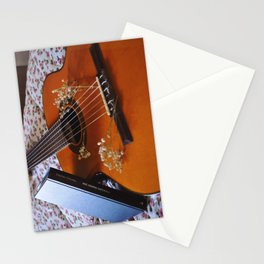 Book and guitar by Giada Ciotola Stationery Cards