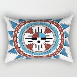 Southwest Native American Art Mandala Rectangular Pillow