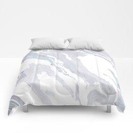Navy Marble Waves Comforters