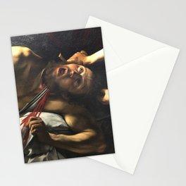 Judith beheading Holofernes, Caravaggio, baroque painting, italian painter Stationery Cards