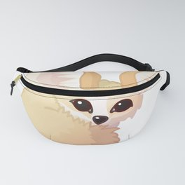 cute fennec foxes. Vector graphic character Fanny Pack