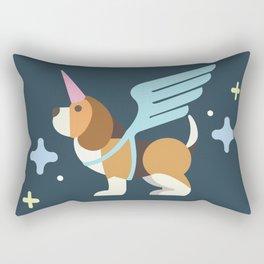 Unicorn dog Rectangular Pillow