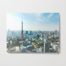 Tokyo Tower in the Morning Metal Print