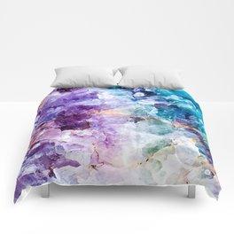 Multicolor quartz texture Comforters
