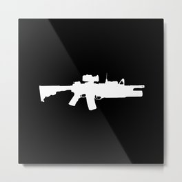 M4 Assault Rifle Metal Print