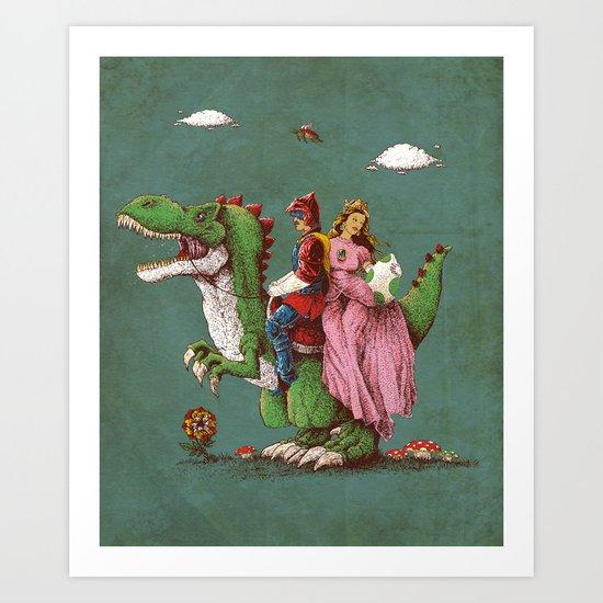 historical reconstitution Art Print