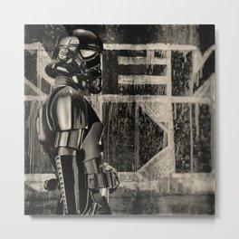 Tagging A Wall Metal Print
