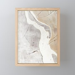 Feels: a neutral, textured, abstract piece in whites by Alyssa Hamilton Art Framed Mini Art Print