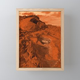 Mars landscape Framed Mini Art Print
