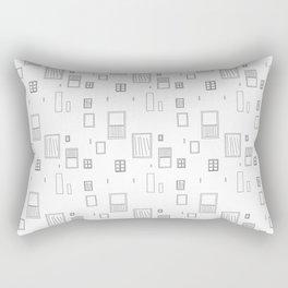 Cutsie Widow Line Drawing Rectangular Pillow