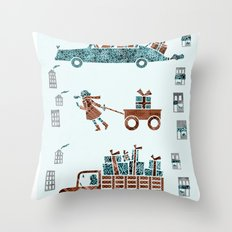 Present Transportation Throw Pillow