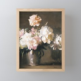 Still Life: Vase of Peonies, 1925 Framed Mini Art Print