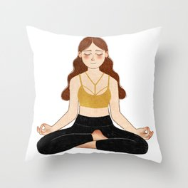 Sukhasana Throw Pillow
