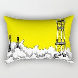 San Francisco - Sutro Tower (yellow sky) Rectangular Pillow