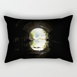 Green at the End of the Tunnel Rectangular Pillow