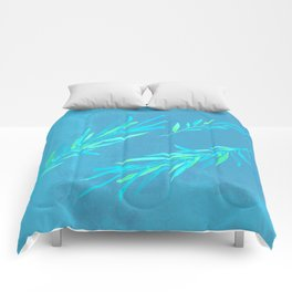 Eucalyptus leaves blue Comforters