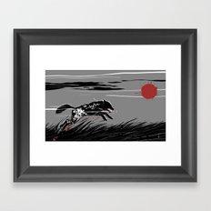 Mecha Wolf Framed Art Print
