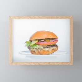 Burger Framed Mini Art Print