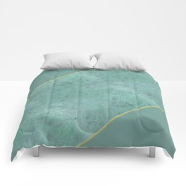 Emerald Green Marble Comforters