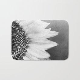 B&W Sunflower Bath Mat