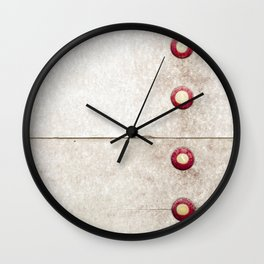 Four on Gray Wall Clock