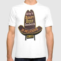 Awesome Arby White MEDIUM Mens Fitted Tee