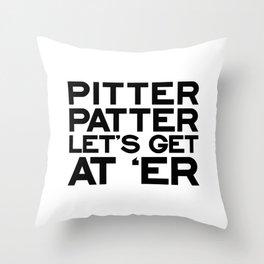PITTER PATTER Throw Pillow