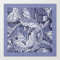 Acanthus Nouveau Style in Blue Canvas Print