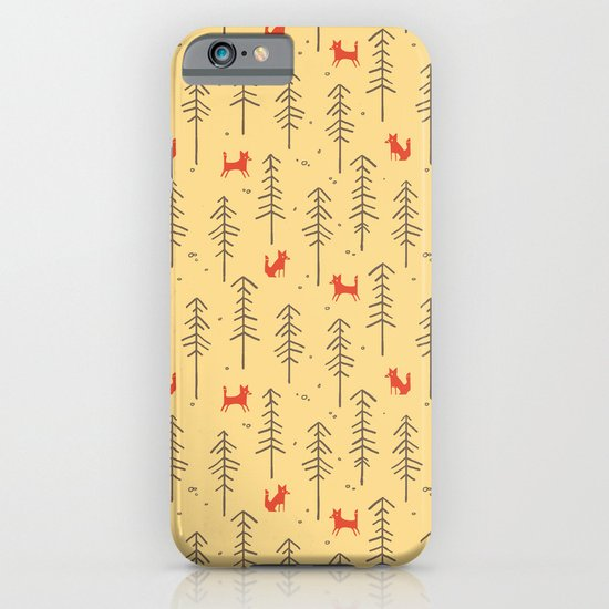 Fox hiding in the forest iPhone & iPod Case