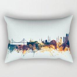 Istanbul Turkey Skyline Rectangular Pillow