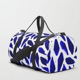 Cobalt Blue Ink Blots Duffle Bag