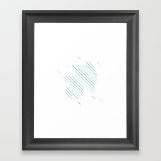 #198 Summer rain – Geometry Daily Framed Art Print